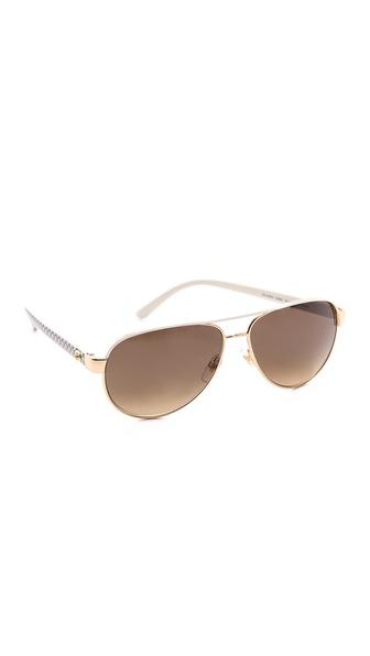 Gucci Renewal Aviator Sunglasses - Ivory/Brown Gradient at Shopbop / East Dane
