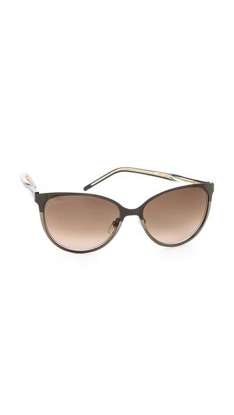 Gucci Slight Cat Eye Sunglasses - Brown/Brown Gradient at Shopbop / East Dane