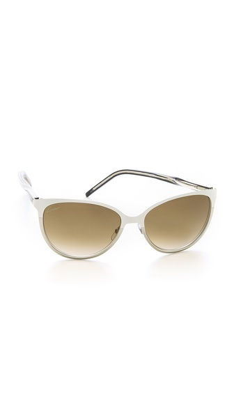 Gucci Slight Cat Eye Sunglasses - Ice/Brown Gradient at Shopbop / East Dane