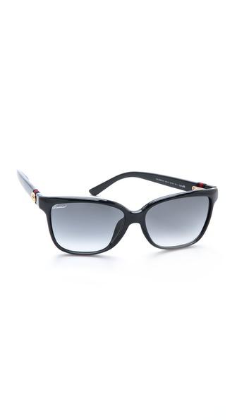 Gucci Special Fit Gradient Sunglasses - Blue/Grey Gradient at Shopbop / East Dane