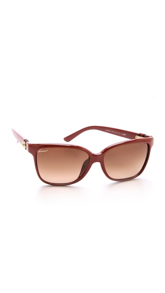 Gucci Special Fit Gradient Sunglasses - Red/Brown Gradient at Shopbop / East Dane