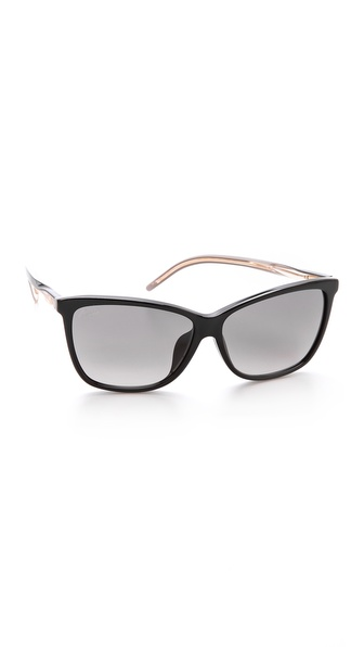 Gucci Special Fit Pointed Sunglasses - Black/Grey Gradient at Shopbop / East Dane