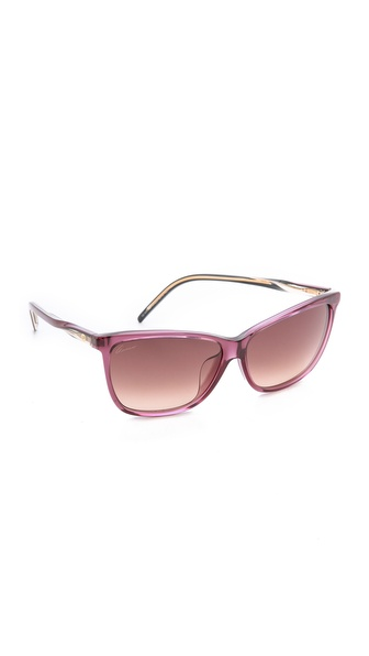 Gucci Special Fit Pointed Sunglasses - Burgundy/Brown Gradient at Shopbop / East Dane