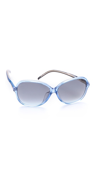 Gucci Special Fit Glam Sunglasses - Blue/Grey Gradient at Shopbop / East Dane