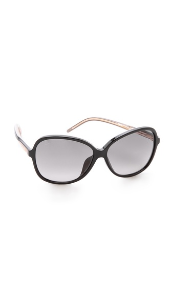Gucci Special Fit Glam Sunglasses - Black/Grey Gradient at Shopbop / East Dane