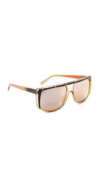 Gucci Gucci Flat Top Sunglasses (Transperant)