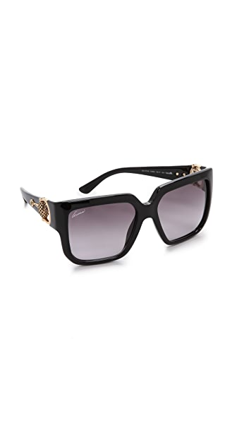 Gucci Gucci Square Sunglasses (Black)