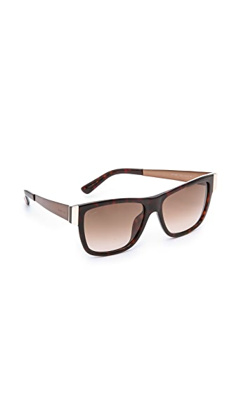 Gucci Frame Accent Sunglasses SHOPBOP