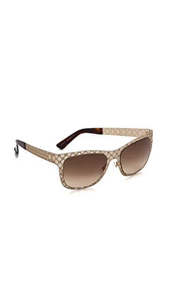 Gucci Gucci Patterned Metal Sunglasses (Multicolor)