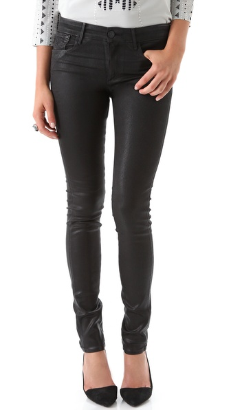 Habitual Eve High Rise Coated Skinny Jeans