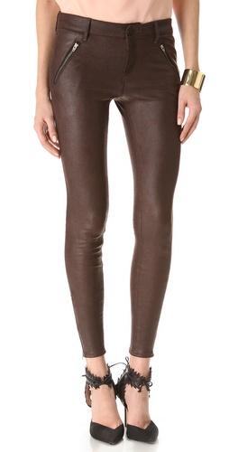 Habitual Amalia Zip Coated Skinny Pants