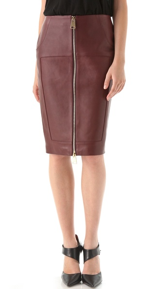 hakaan leather zip front pencil skirt shopbop