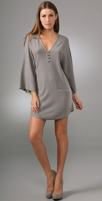 Halston Heritage Knit Tunic Dress
