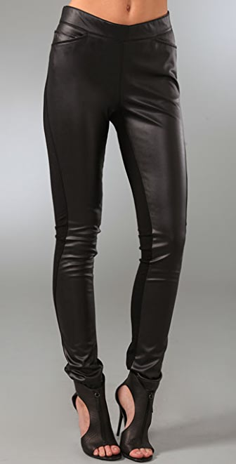 Halston Heritage Faux Leather Leggings
