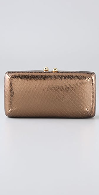Halston Heritage Susan Faux Watersnake Evening Clutch