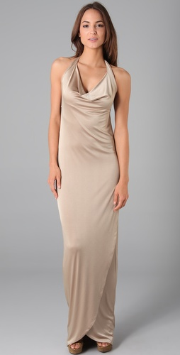 Halston Heritage Cowl Neck Dress