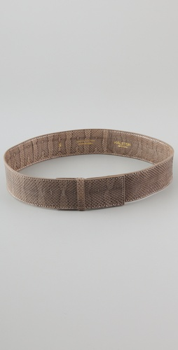 Halston Heritage Watersnake Clean Flat Belt