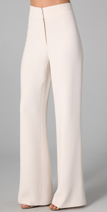 Halston Heritage High Waisted Wide Leg Pants
