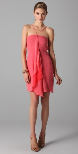 Halston Heritage Reverse Shark Dress
