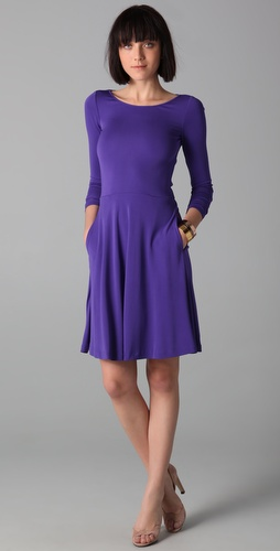 Halston Heritage Bow Tie Flare Dress