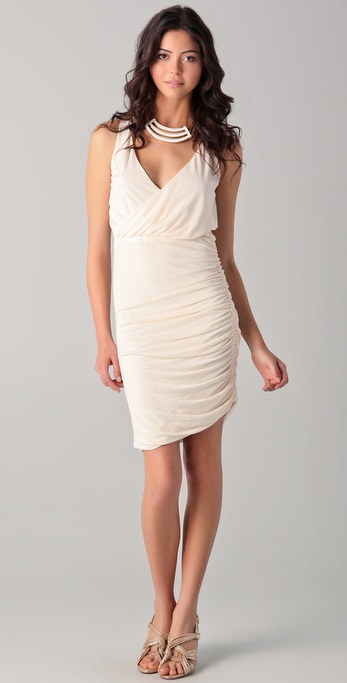 Halston Heritage V Neck Dress
