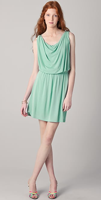 Halston Heritage Draped Bodice Dress