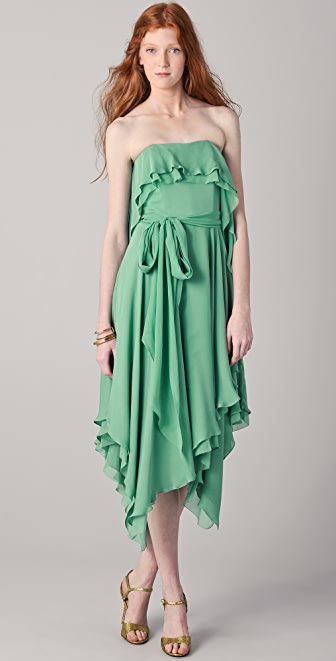 Halston Heritage Handkerchief Dress