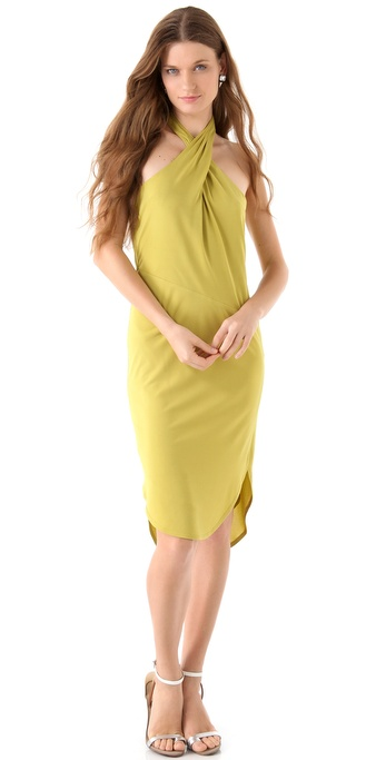 Halston Heritage Halter Neck Dress