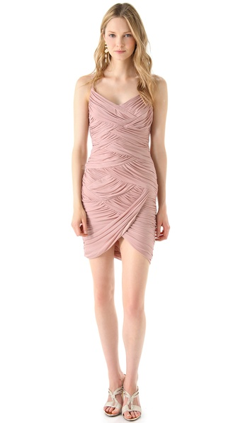 Halston Heritage Sleeveless Ruched Dress