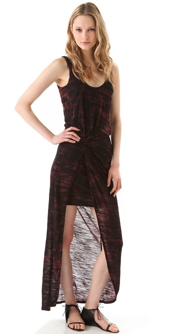 Halston Heritage Brushstroke Sleeveless Knit Dress