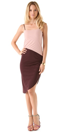 Halston Heritage Colorblock Interlock Dress