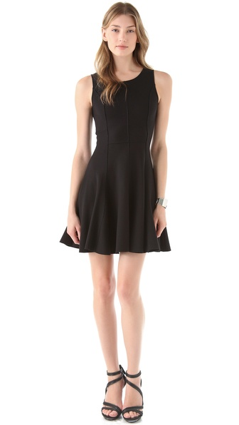 Halston Heritage Flared Ponte Dress