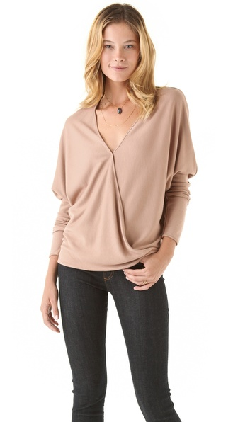 Halston Heritage Dolman Crossover Top