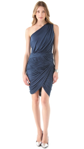 Halston Heritage Basket Weave Dress