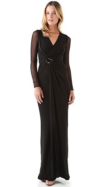 Halston Heritage Wrap Gown