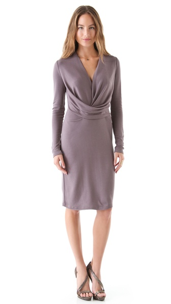 Halston Heritage Drape Front Dress