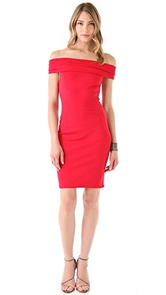 Halston Heritage Off the Shoulder Dress