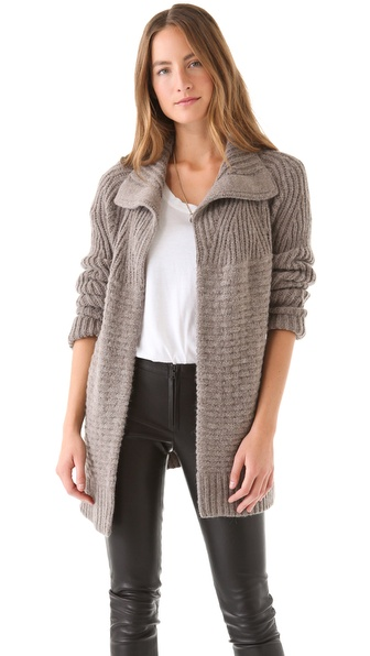 Halston Heritage Textured Cardigan Coat