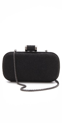 Halston Heritage Pebbled Oblong Minaudiere