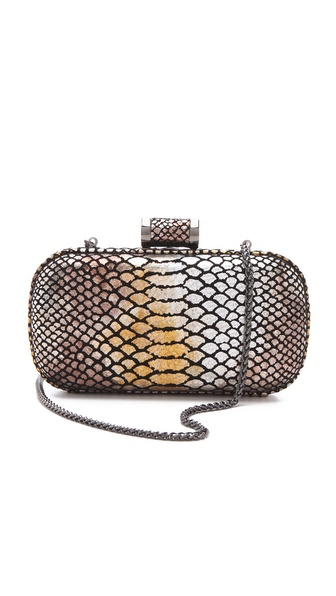 Halston Heritage Exotic Oblong Minaudiere