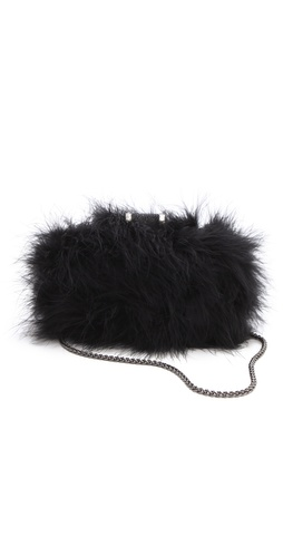 Halston Heritage Feather Oblong Minaudiere