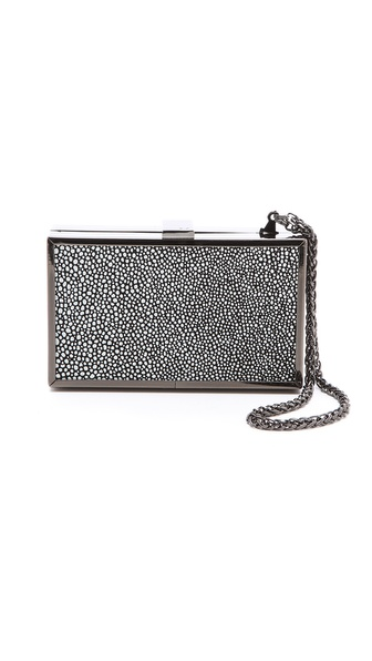 Halston Heritage Stingray Box Minaudiere