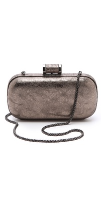 Halston Heritage Crushed Metallic Minaudiere