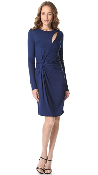Halston Heritage Asymmetrical Twist Dress