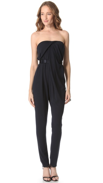Halston Heritage Strapless Jumpsuit
