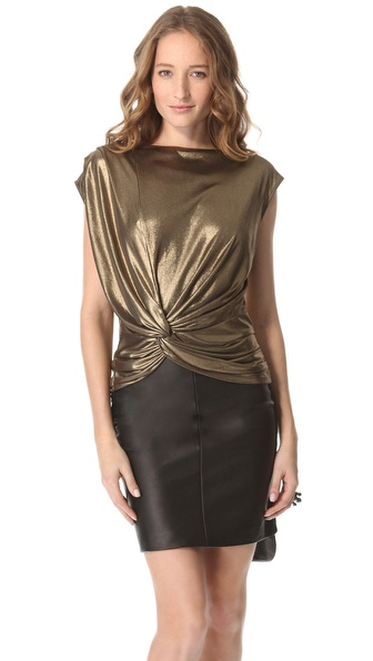 Halston Heritage Cap Sleeve Top