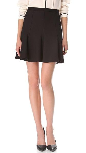 Halston Heritage Circle Ponte Skirt