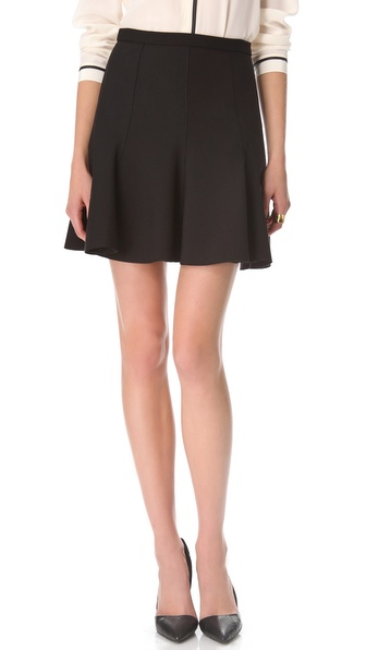 Halston Heritage Circle Ponte Skirt
