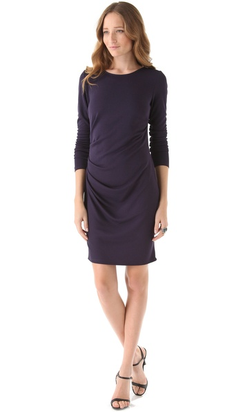 Halston Heritage Draped Sheath Dress