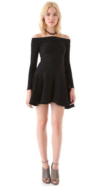 Halston Heritage Off Shoulder Dress